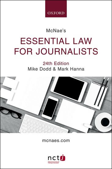McNae's Essential Law for Journalists 24e