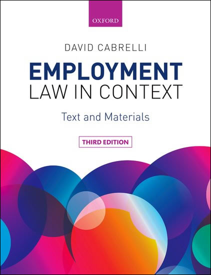 Employment Law in Context 3e