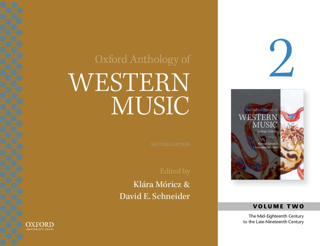 Oxford Recorded Anthology of Western Music 2e Volume II: Mid-Eighteenth Century to the Late Nineteenth Century