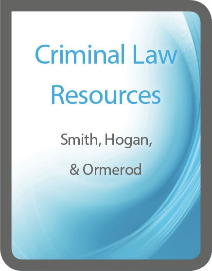 Criminal law resources from Smith, Hogan, & Ormerod
