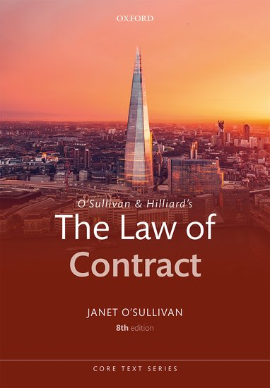 O'Sullivan & Hilliard's The Law of Contract 8e