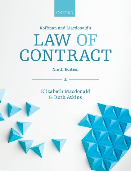Koffman & Macdonald's Law of Contract 9e student resources