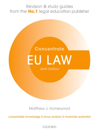 EU Law Concentrate 6e resources