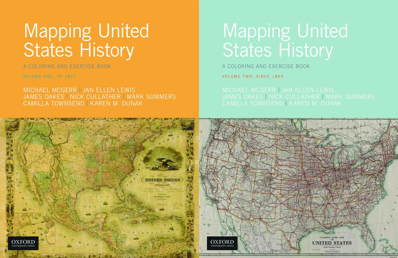 Mapping United States History: A Coloring and Exercise Book