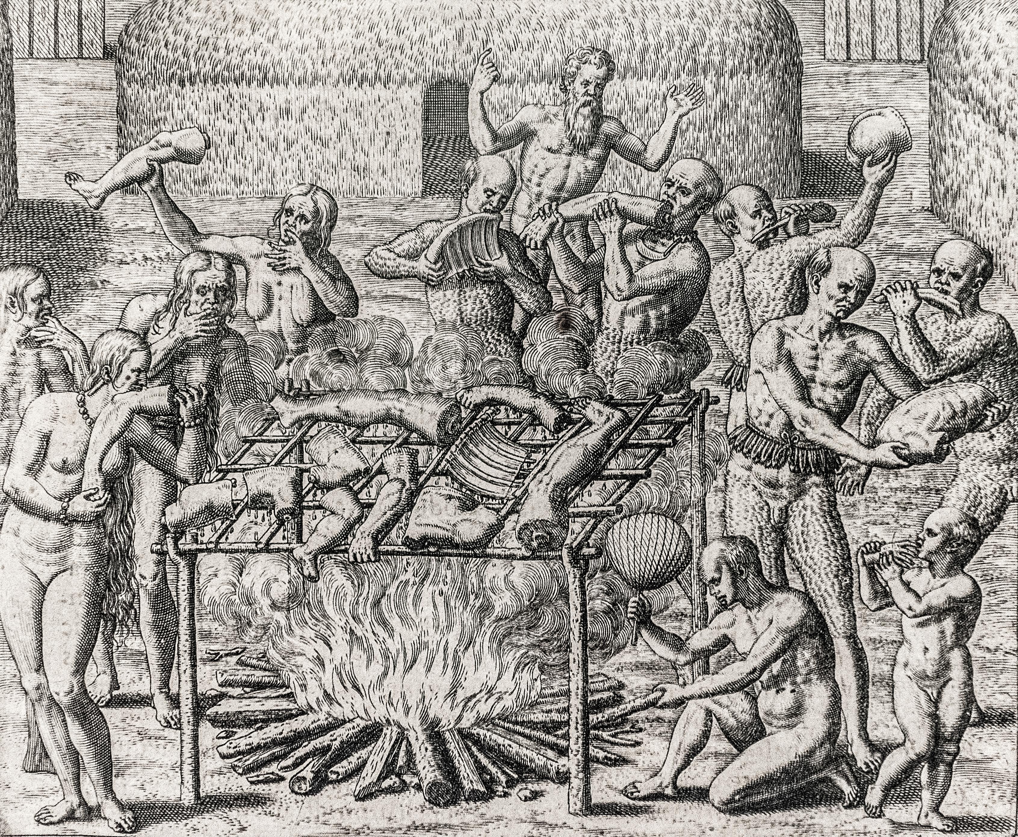 Theodor de Bry, Engraving of cannibals