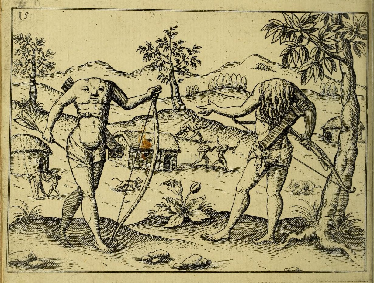 Blemmyes from Walter Raleigh's <i>Discovery of Guiana</i>