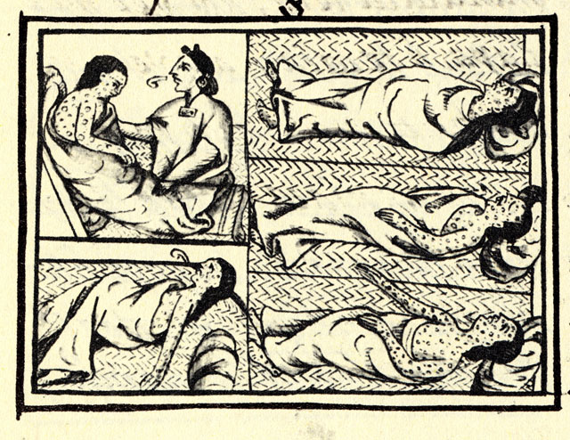 Smallpox victims from the <i>Florentine Codex</i> (1500s)